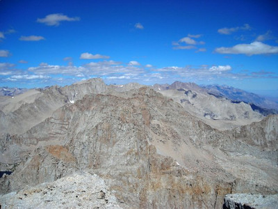 Mt Whitney to the north.  Mt Langley's bigger twin