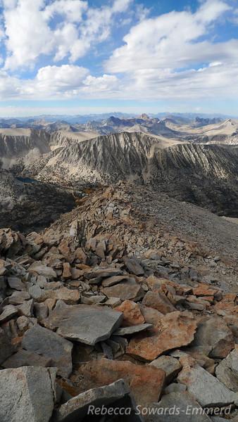 Looking back down the ridge. Gorgeous peak!