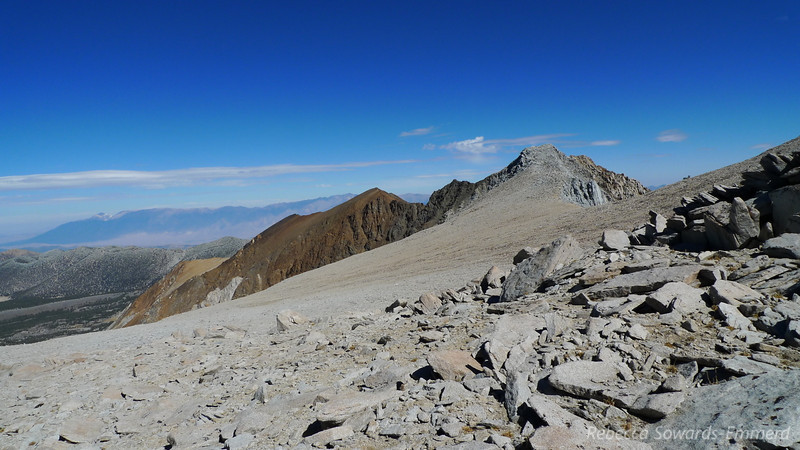 View towards Broken Finger Peak and Wheeler Ridge