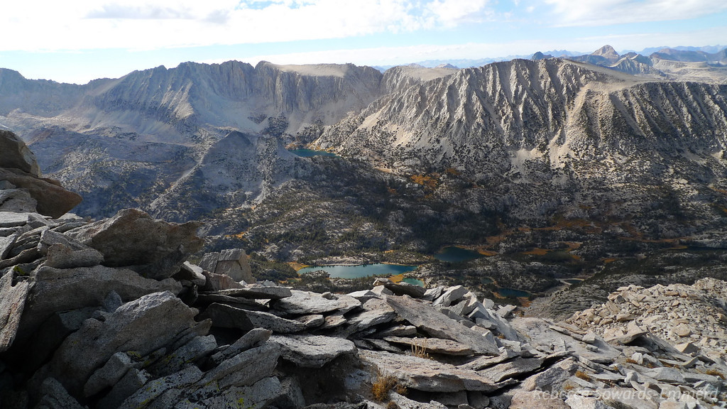Little Lakes Valley is amazing from up here!