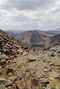 Tioga Peak viewed from the top of the chute.