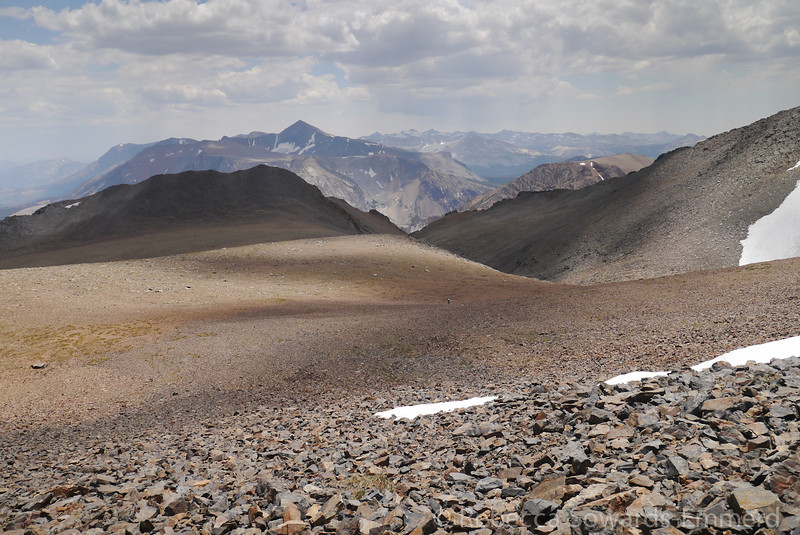 Looking back down on the open ridge.