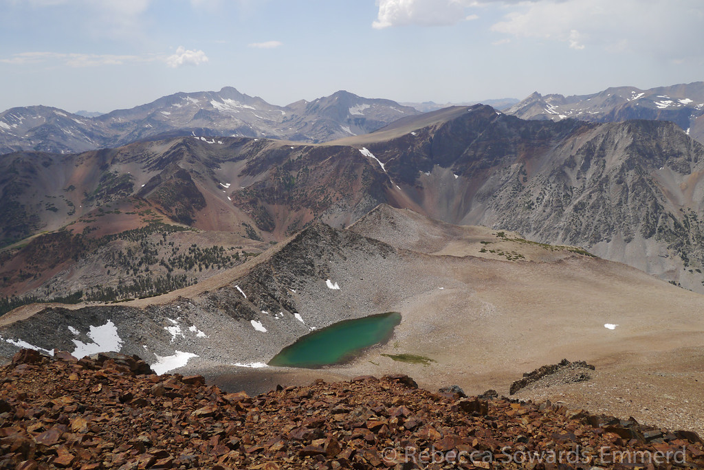 View to the west. Mt Conness and a pretty unnamed tarn.