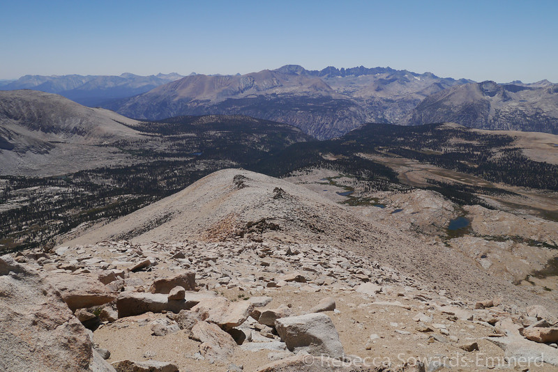 Descending our ridge