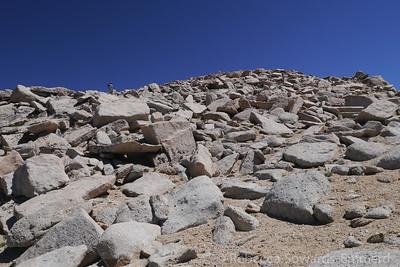 Hoppin rocks and dirt on the way up Barnard.
