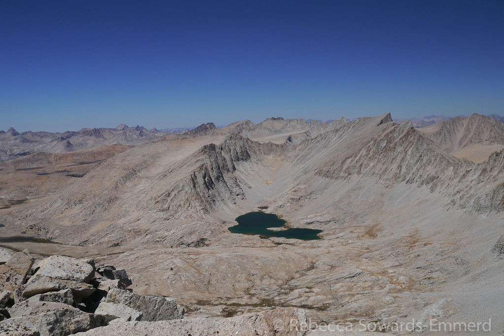 And goodbye to this fantastic view of Wright Lakes basin and Tyndall