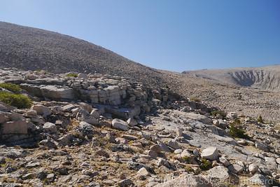 We're heading up towards the ridge of Barnard now.