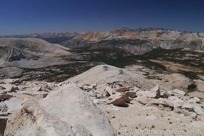 Looking back down the ridge we've been walking.