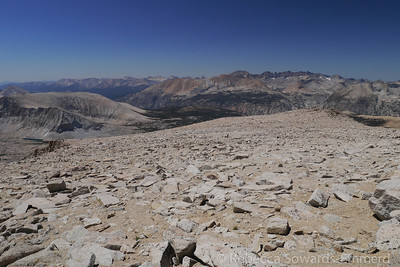 Looking back across the plateau.