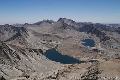 Wallace and Wales Lakes with Mt Whitney in between.