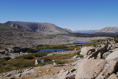 Looking back at some of the lakes in this intermediate basin.