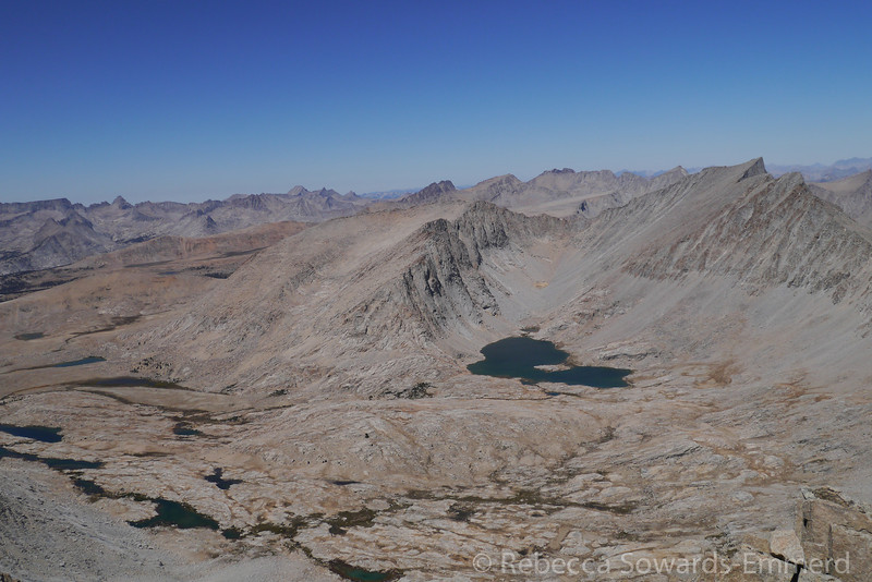 Wright Lakes basin and Mt Tyndall from barnard. Great place!