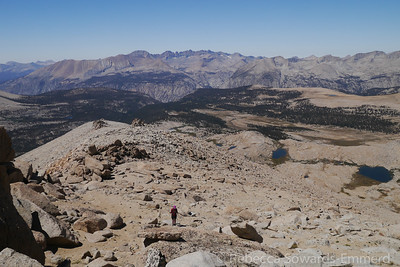A nice view of some of the terrain we've come through.