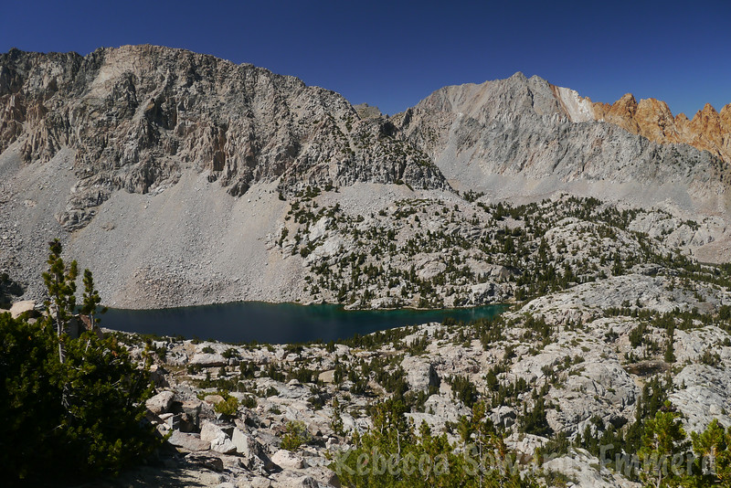 Upper Lamarck Lake was beautiful in the afternoon sun.