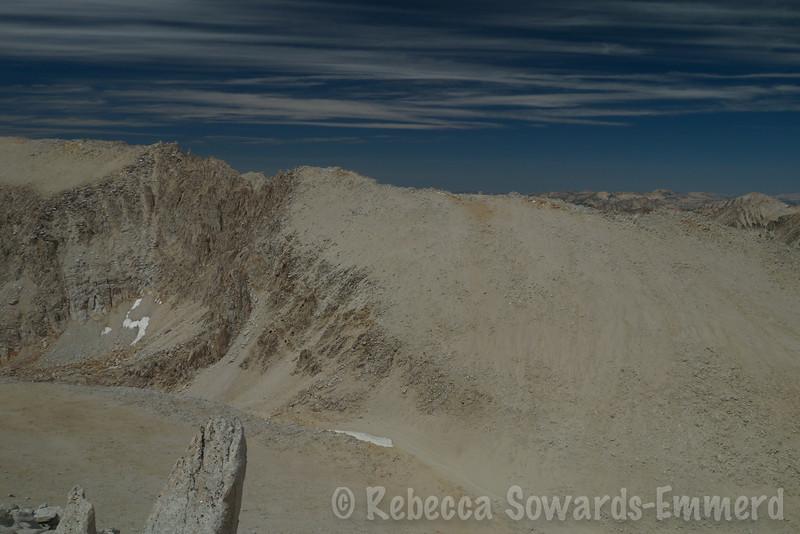 Looking across mono Pass to Mono Pass peak.