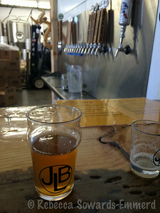 We stopped by the new June Lake Brewery to try some of their brews. Good Pale Ale - filled a growler for camp that night!