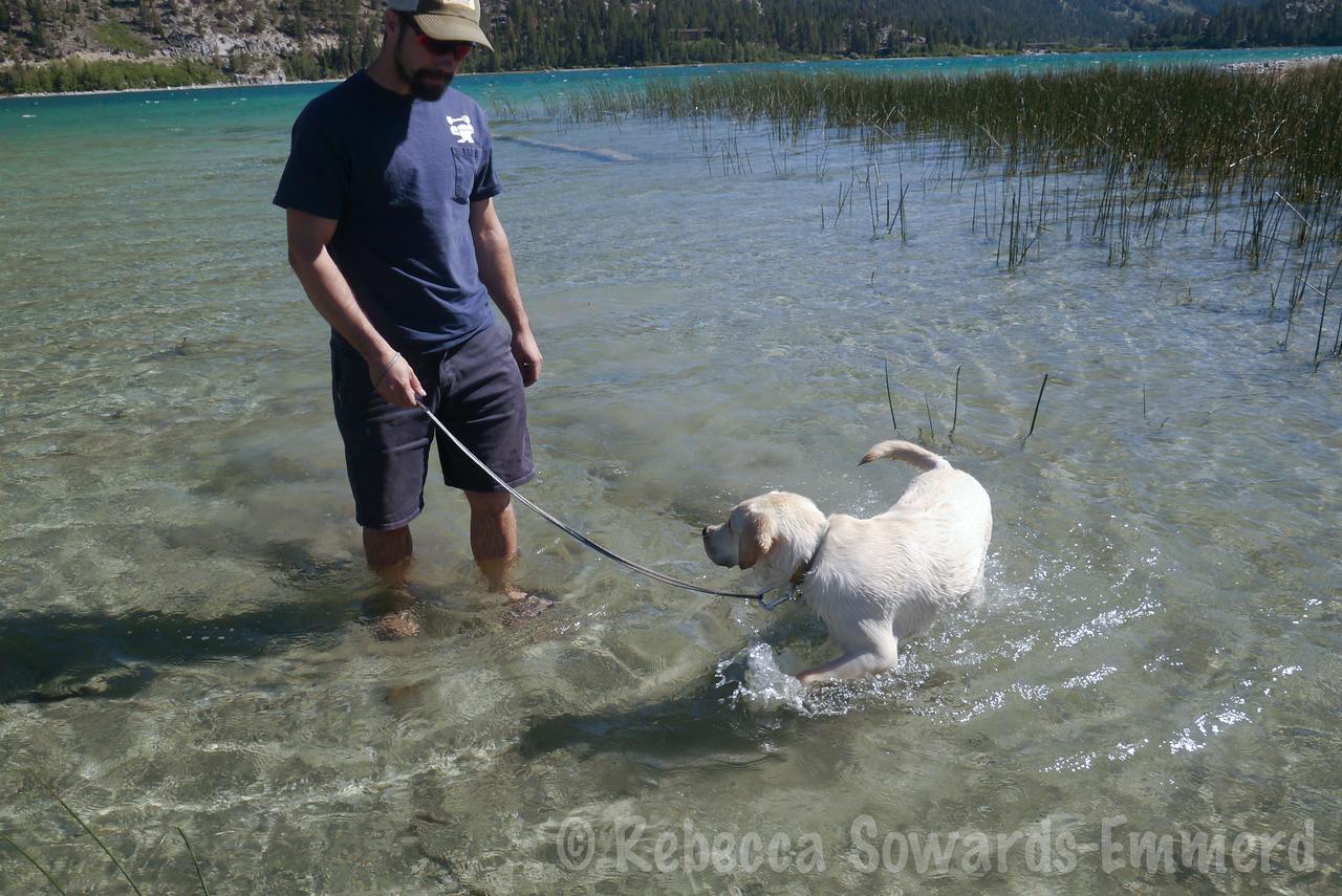 He really loves splashing around.