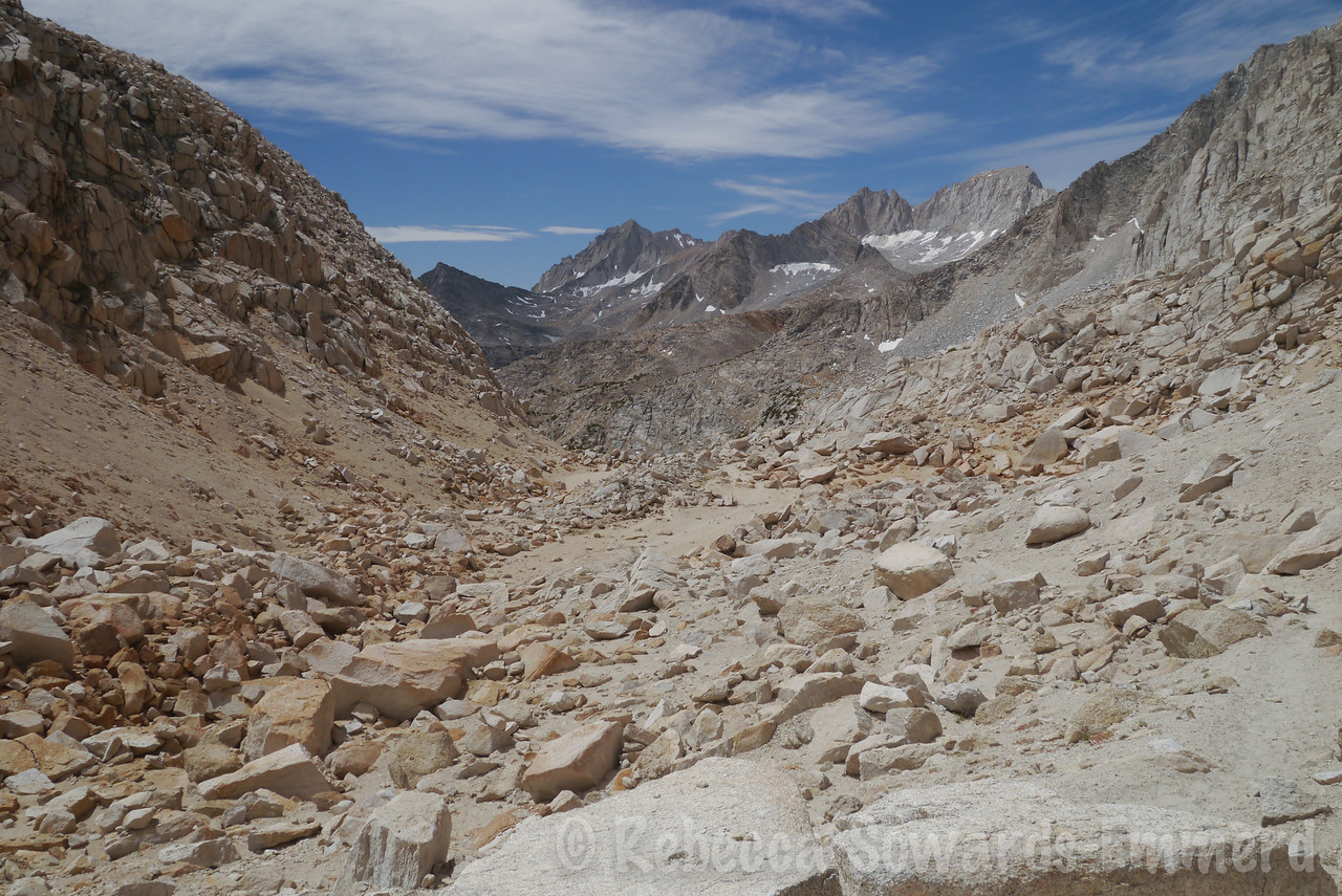 Looking back from near Mono Pass.