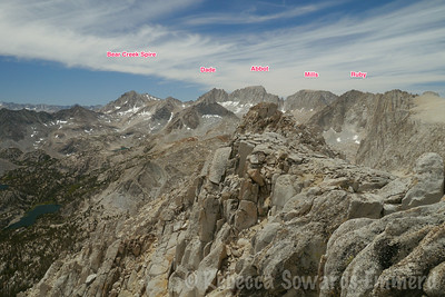 Some peak labels from the top of Starr. None on my 'climbed' list yet - there are always more to do!