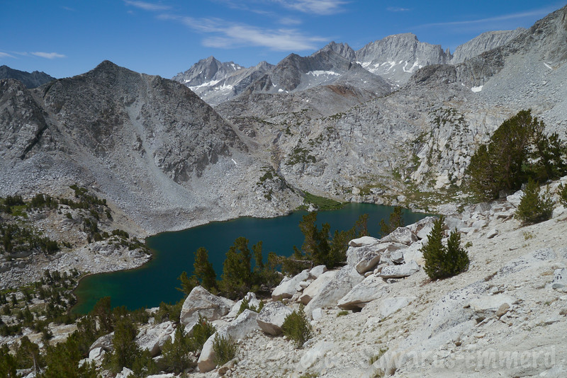 Ruby Lake from the trail to Mono Pass