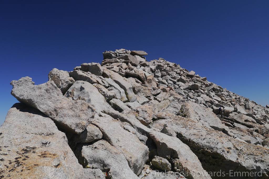 The rest of the climb is a simple boulder scramble to the summit.