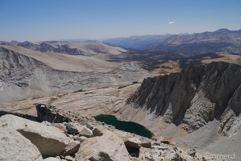 Looking down on Wright Lakes basin. Yet another view of the beautiful lake!