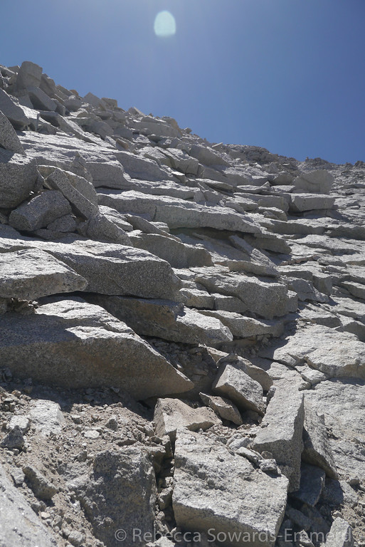 Tyndall slabs. And getting a bit steeper.