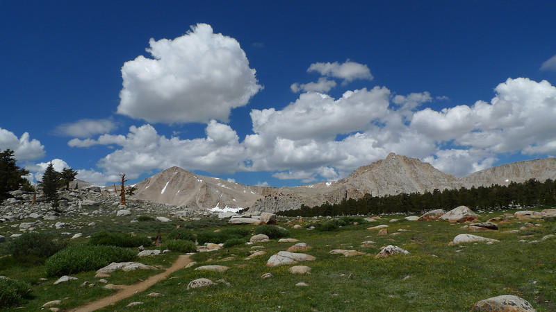 The clouds made for nice photos, but it was still early. Knowing typical sierra weather patterns, I was expecting afternoon storms.
