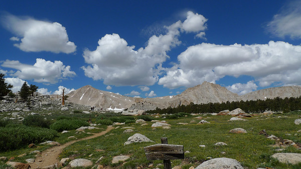 Junction to Muir Lake. Cirque Peak (left) and Army Point (middle-right)