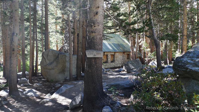 This cabin was built by actor Lon Chaney back in the 1920s. It's now used and maintained by the forest service.
