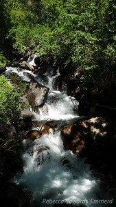 Waterfall by Glacier Lodge