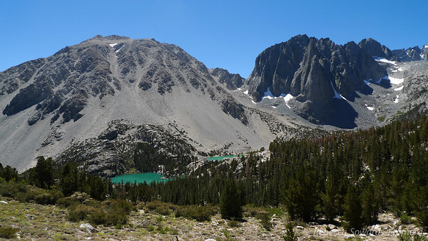 We decided to follow the loop in a counter-clockwise direction, and the climb to Black Lake gave us a great view down on 1st, 2nd, and 3rd lakes.