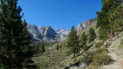A brief peek south towards Middle Palisade before we head up the north fork.