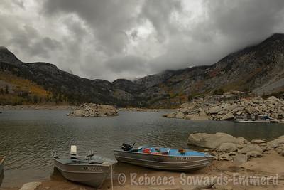 Fall colors at Lake Sabrina - not as good as north lake.