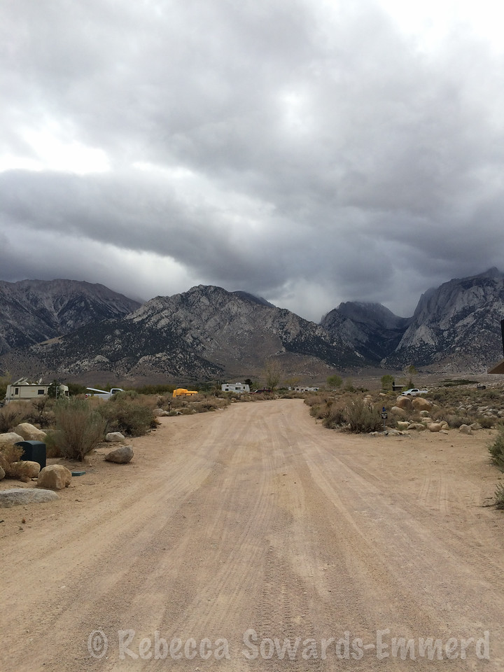 Arriving at Tuttle Creek campground amid light sprinkles.