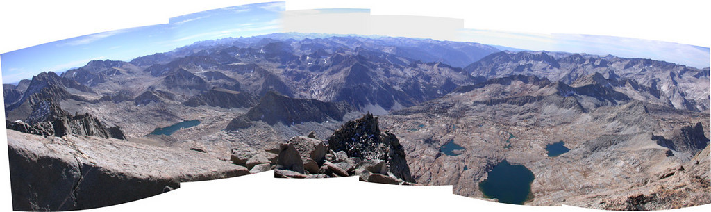 Southwest from summit