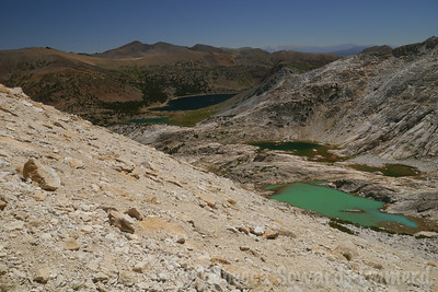 Conness Lakes on the right, Saddlebag and Greenstone in the center/left.