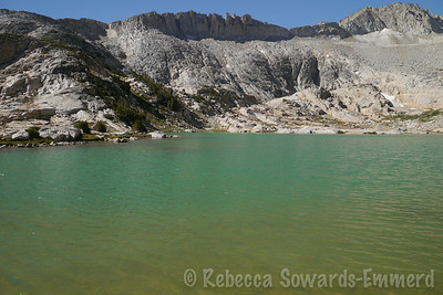 The melt from the glacier carries silt into the lakes, causing the beautiful shades of blue and green we see here.