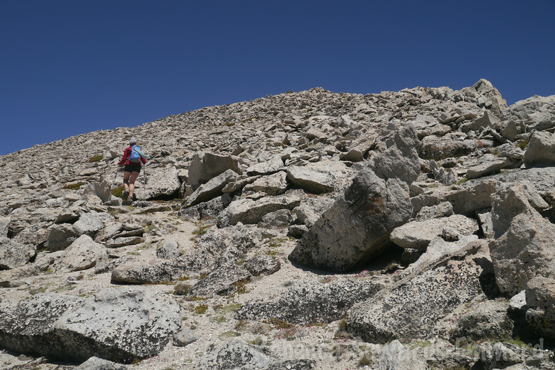 Approaching the summit of North, an easy walk from the 'pass'