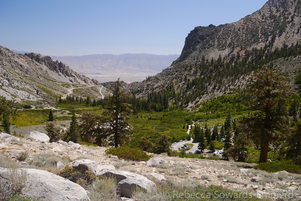 The trailhead is in view for many switchbacks, but at some point you start to let go of civilization.