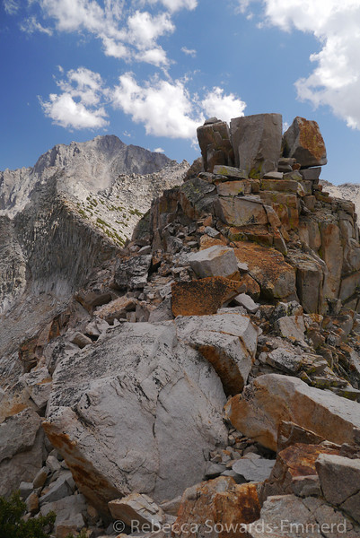Kearsarge Pass rock piles.