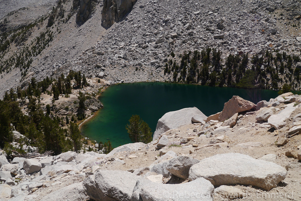 The lakes up here are deep green.
