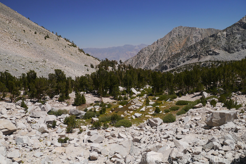 Looking back down Onion Valley
