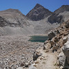 Ascending out of the last lake, Junction peak in the distance.