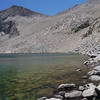 At Lake 3685, the last place to fill water before the pass. Forester pass is the notch above.