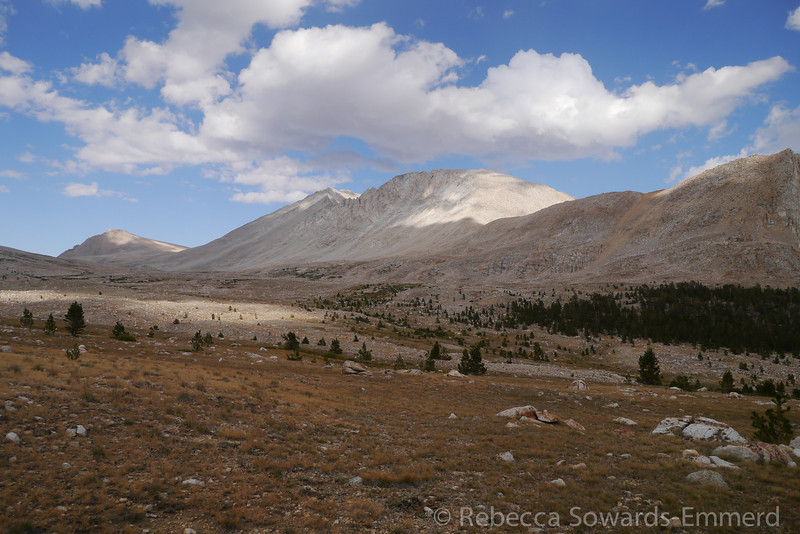 Looking up towards Mt Tyndall and Shepherd Pass