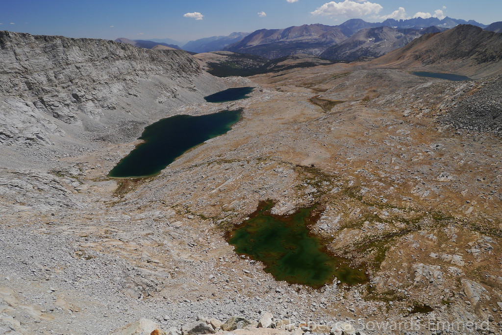 I call the lake on the bottom right 'marmot lake'. Last time we stopped there to fill water one of us had to watch the packs to prevent the gangs of roaming marmots from stealing our stuff.