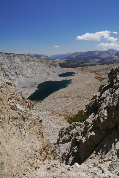 Unnamed lakes on the south side of Forester pass.
