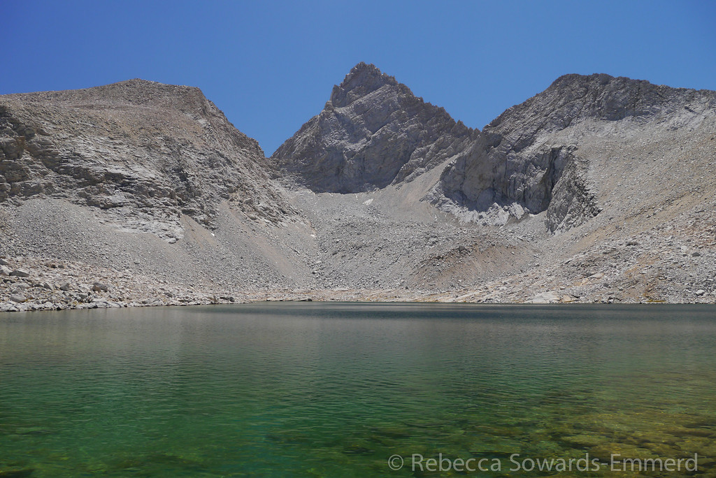 The very distinctive Junction Peak above the highest unnamed lake. (Lake 3685)