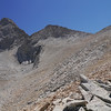 Getting closer to the pass (notch on  right)